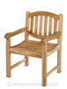Cotswold Teak malvern arm chair. Very solid, built the same as the benches.