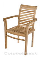 Cotswold Teak Tingewick stacking chair.