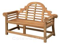 Cotswold Teak lutyens bench, 165cm.