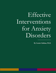 Effective Interventions for Anxiety Disorders (Connie Callahan) - physical book