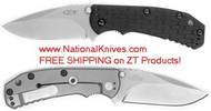 "Zero Tolerance ZT 0551 Limited Edition Folding Knife, 3.5"" Elmax Plain Edge Blade, Black G-10 and Titanium Handle"