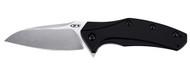 "Zero Tolerance ZT 0770 Assisted Opening Knife, 3.25"" Plain Edge Blade, Black Aluminum Handle"