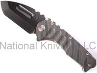 "Medford Knives Praetorian Folding Knife, Oxide 3.8"" Plain Edge D2 Blade, Flamed Titanium Handle"