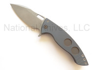 "Ferrum Forge Knife Works AFY Model 8 Folding Knife, 3.75"" Plain Edge Z-FiNit Blade, Titanium Handle"