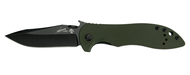 "Kershaw Emerson CQC-5K 6074OLBLK Folding Knife, Black 3"" Plain Edge Blade, Olive Drab (OD) G-10 Handle"