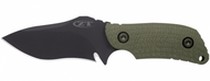 "Zero Tolerance 0121 Fixed Blade Knife, Black 4.25"" Plain Edge Blade"