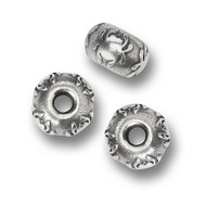 "Spyderco Round Bead BEAD2, 3/16"" Hole, Solid Pewter, Single Bead"
