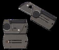 "Spyderco Dog Tag Folder C188ALTIBBKP Folding Knife, Black 1.25"" Plain Edge Blade, Black Titanium Handle"