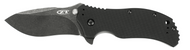 "Zero Tolerance 0350BW Assisted Opening Knife, Blackwashed 3.25"" Plain Edge Blade, Black G-10 Handle"