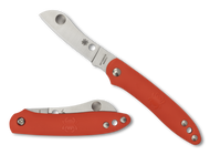 "Spyderco Roadie C189POR Slipit Folding Knife, 2.125"" Plain Edge Blade, Orange FRN Handle"
