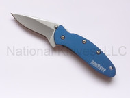 "Kershaw Chive 1600NB Assisted Opening Knife, 1-15/16"" Plain Edge Blade, Navy Blue Handle"