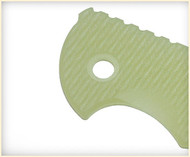 "Rick Hinderer Knives Folding Knife Handle Scale for XM-18 - 3"", Translucent Green"