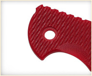 """Rick Hinderer Knives Folding Knife G-10 Handle Scale for XM-18 - 3.5"""" - Red"""