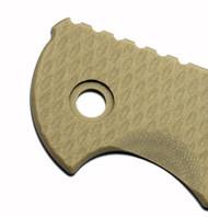 "Rick Hinderer Knives Folding Knife Handle Scale for XM-18 - 3.5"", Sand"