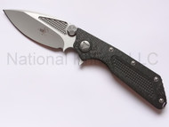 Microtech DOC Folding Knife Hand Ground, 2X Vapor Blast, Carbon Fiber