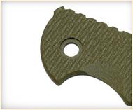 "Rick Hinderer Knives Folding Knife G-10 Handle Scale for XM-18 - 3.5"" - OD Green"