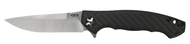 "Zero Tolerance 0452CF Flipper Folding Knife, 4.125"" Plain Edge Blade, Black Carbon Fiber and Titanium Handle"