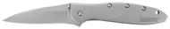 "Kershaw Leek 1660 Assisted Opening Knife, 3"" Plain Edge Blade, Stainless Steel Handle"