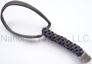 Zero Tolerance Knives ZT Lanyard LANYARDSZTGRAY/BLUE, Solid Pewter Bead, Gray and Blue Paracord