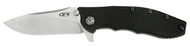 "Zero Tolerance 0562 Flipper Folding Knife, 3.6"" Plain Edge S35VN Blade, Black G-10 and Titanium Handle"