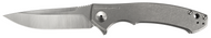 "Zero Tolerance 0450 Flipper Folding Knife, 3.25"" Plain Edge Blade, Titanium Handle"