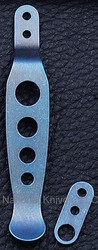 Rick Hinderer Knives Holey Pocket Clip and Tab Set - Titanium - Blue