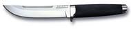 "Cold Steel Outdoorsman 18H Fixed Blade Knife, 6"" Plain Edge San Mai Blade, Black Kry-Ex Handle, Sheath"