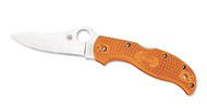 "Spyderco Stretch C90FPBORE Sprint Run Folding Knife, 3.5"" Plain Edge HAP40 and SUS 410 laminate Blade, Burnt Orange FRN Handle"