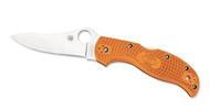 "Spyderco Stretch C90FPBORE Sprint Run Folding Knife, 3.5"" Plain Edge HAP40 and SUS 410 laminate Blade, Burnt Orange FRN Handle"