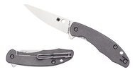 "Spyderco Mantra 2 C203TIP Folding Knife, 3.25"" Plain Edge CPM-M4 Blade, Titanium Handle"