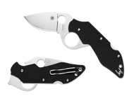 "Spyderco Introvert C206GP Folding Knife, 2.75"" Plain Edge Blade, Black G-10 Handle"