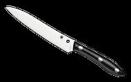 "Spyderco Cook's Knife K11P Kitchen Knife, 6.125"" Plain Edge Stainless Steel Blade, Black Corian Handle"