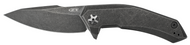 "Zero Tolerance 0095BW Flipper Folding Knife, Blackwashed 3.75"" Plain Edge Blade, Blackwashed Titanium Handle"