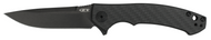 "Zero Tolerance 0450CF Flipper Folding Knife, Black 3.125"" Plain Edge Blade, Black Carbon Fiber and Titanium Handle"