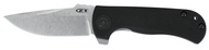 "Zero Tolerance ZT 0909 Flipper Folding Knife, 3.75"" Plain Edge Blade, Black G-10 Handle"