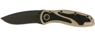 "Kershaw Blur 1670DSBLK Assisted Opening Knife, 3-3/8"" Plain Edge Blade, Desert Sand Handle"