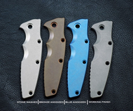 GEN. 1 ONLY - Rick Hinderer Knives Eklipse Smooth Titanium Handle Scale, Blue Anodized - Will NOT Fit ZT 0392 OR GEN. 2 Eklipse