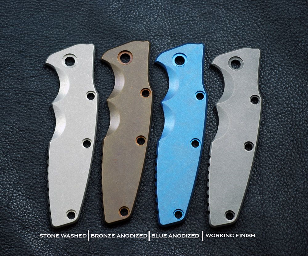 GEN  1 ONLY - Rick Hinderer Knives Eklipse Smooth Titanium Handle Scale,  Working Finish - Will NOT Fit ZT 0392 OR GEN  2 Eklipse
