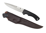 "Spyderco Sustain FB39GP Fixed Blade Knife, 6.25"" Plain Edge Blade, Black G-10 Handle, Sheath"