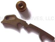 Rick Hinderer Knives Hinderer Modular Backspacer System (HMBS) - Anodized Bronze Titanium - Lanyard Backspacer and Forward Standoff Only
