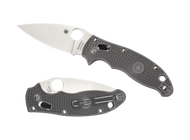 "Spyderco Manix 2 C101PGY2 Folding Knife, 3.375"" Plain Edge Maxamet Blade, Gray FRCP Handle"