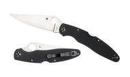 "Spyderco Police 4 C07GP4 Folding Knife, 4.437"" Plain Edge K390 Blade, Black G-10 Handle"