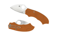 "Spyderco Meekat C64JPBORE Sprint Run Folding Knife, 2"" Plain Edge HAP40 and SUS 410 Laminate Blade, Burnt Orange FRN Handle"
