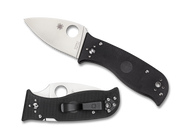 "Spyderco Lil' Temperance 3 C69GP3 Folding Knife, 3"" Plain Edge Blade, Black G-10 Handle"
