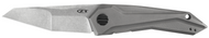 "Zero Tolerance 0055 Flipper Folding Knife, 3.75"" Plain Edge Blade, Titanium Handle"