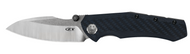 "Zero Tolerance 0850 Folding Knife, 3.75"" Plain Edge Blade, Blue and Black Carbon Fiber Handle"