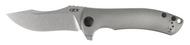 """Zero Tolerance 0920 Flipper Folding Knife, 3.875"""" Plain Edge Blade, Titanium Handle"""