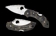 "Spyderco Dragonfly 2 C28ZFPGR2 Folding Knife, 2.312"" Plain Edge Blade, ZOME Green FRN Handle"