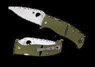 Spyderco Caribbean Leaf Shape Knife C217GS Serrated LC200 N Blade G-10 Handle
