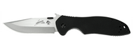 "Kershaw Emerson CQC-6K 6034 Folding Knife, 3.25"" Plain Edge Blade, Black G-10 Handle"